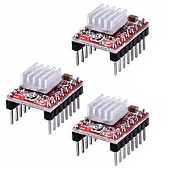 abordables Módulos-disipador de calor del módulo del controlador del motor paso a paso a4988 para reprap impresora 3d (paquete de 3 unidades)