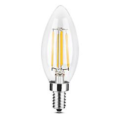 preiswerte LED-Birnen-YWXLIGHT® 1pc 4 W 300-400 lm E14 LED Kerzen-Glühbirnen / LED Glühlampen C35 4 LED-Perlen COB Abblendbar Warmes Weiß / Kühles Weiß 220-240 V