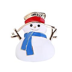 Недорогие Женские украшения-Жен. 3D Броши - Милая Брошь Белый Назначение Рождество