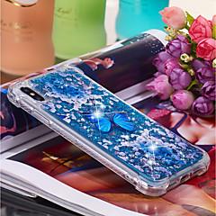Недорогие Кейсы для iPhone X-Кейс для Назначение Apple iPhone XR / iPhone XS Max Движущаяся жидкость / С узором Кейс на заднюю панель Бабочка Мягкий ТПУ для iPhone XS / iPhone XR / iPhone XS Max