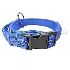 abordables Artículos para Perros-Perros Cuello Reflexivo / Ajustable / Tamaño Ajustable Clásico / Británico Nailon / Metal Azul