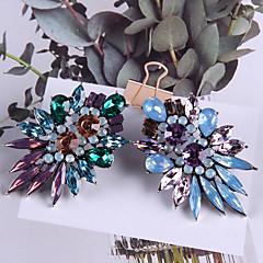 abordables Pendientes-Mujer Cristal Clásico Pendients de aro - Lujo, De moda, Moda Marrón / Verde / Azul Claro Para Festivos Noche