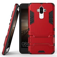 Недорогие Чехлы и кейсы для Huawei Mate-Кейс для Назначение Huawei Mate 9 Защита от удара / со стендом Кейс на заднюю панель Однотонный Твердый ПК для Mate 9