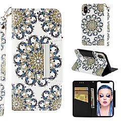 Недорогие Кейсы для iPhone 6-Кейс для Назначение Apple iPhone XR / iPhone XS Max Кошелек / Бумажник для карт / со стендом Чехол Мандала Твердый Кожа PU для iPhone XS / iPhone XR / iPhone XS Max