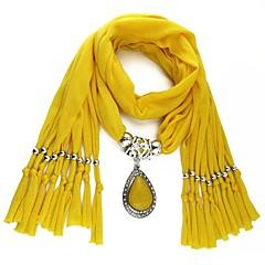 preiswerte Halsketten-Damen Lang Schal Halskette - Romantisch, Süß, Franz?sisch Niedlich Rot, Blau, Leicht Grün 180 cm Modische Halsketten Schmuck 1pc Für Maskerade, Verabredung