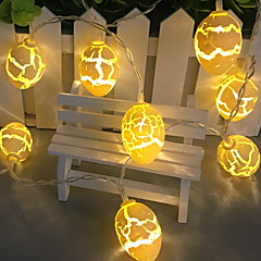 お買い得  LED ストリングライト-1m ストリングライト 10 LED 温白色 装飾用 単3乾電池 1セット
