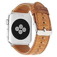 abordables Correas para Reloj-piel genuina Ver Banda Correa para Apple Watch Series 4/3/2/1 Marrón 23cm / 9 pulgadas 2.1cm / 0.83 Pulgadas