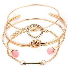 abordables Bijoux pour Femme-Femme Effets superposés Manchettes Bracelets - Romantique Bracelet Or / Argent Pour Cadeau Festival / 4pcs