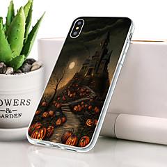 Недорогие Кейсы для iPhone-Кейс для Назначение Apple iPhone XS Защита от пыли / Ультратонкий / С узором Кейс на заднюю панель Черепа Мягкий ТПУ для iPhone XS
