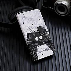 billiga iPhone 7 Plus och Plus-fodral-fodral Till Apple iPhone XR / iPhone XS Max Plånbok / Korthållare / med stativ Fodral Katt Hårt PU läder för iPhone XS / iPhone XR / iPhone XS Max