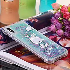 Недорогие Кейсы для iPhone X-Кейс для Назначение Apple iPhone XR / iPhone XS Max Движущаяся жидкость / С узором Кейс на заднюю панель единорогом Мягкий ТПУ для iPhone XS / iPhone XR / iPhone XS Max
