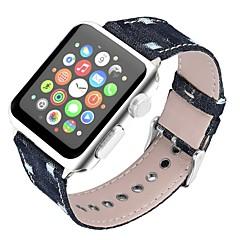 お買い得  腕時計ベルト-本革 時計バンド ストラップ のために Apple Watch Series 4/3/2/1 ブラック / ブルー / ブラウン 23センチメートル / 9インチ 2.1cm / 0.83 Inch