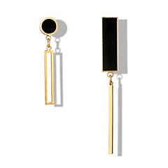 preiswerte Ohrringe-Damen Nicht übereinstimmend Tropfen-Ohrringe - Einfach, Geometrisch, Europäisch Gold / Silber Für Party Alltag