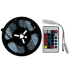 preiswerte LED Lichtstreifen-SENCART 5m Lichtsets 300/150 LEDs SMD5050 1 24Keys Fernbedienung RGB Schneidbar / Dekorativ / Verbindbar 12 V 1 set