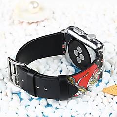 abordables Correas para Reloj-piel genuina Ver Banda Correa para Apple Watch Series 4/3/2/1 Negro 23cm / 9 pulgadas 2.1cm / 0.83 Pulgadas