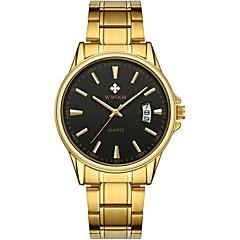preiswerte Herrenuhren-WWOOR Herrn Kleideruhr Armbanduhr Japanisch Japanischer Quartz Gold 30 m Wasserdicht Kalender Cool Analog Modisch - Schwarz und Gold Gold