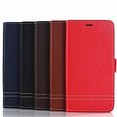 Недорогие Чехлы и кейсы для Xiaomi-Кейс для Назначение Xiaomi Redmi 6 / Redmi 5 Plus Кошелек / Бумажник для карт / со стендом Чехол Однотонный Твердый Кожа PU для Redmi Note 5A / Xiaomi Redmi Note 4X / Xiaomi Redmi Note 4