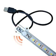 お買い得  LED ストリングライト-zdm®1pc 50センチメートル防水人体誘導LEDライトバー5050 smdコールドホワイト/暖かい白/ボディセンサー/新しいデザイン/のUSB電源dc5v