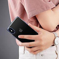 Недорогие Кейсы для iPhone-Кейс для Назначение Apple iPhone X Защита от удара / Прозрачный Кейс на заднюю панель Однотонный Мягкий ТПУ для iPhone X