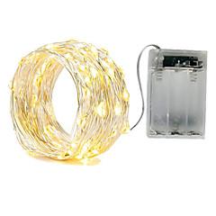 preiswerte LED Lichtstreifen-3m 30led aa 4.5v batteriebetriebene wasserdichte dekoration führte kupferdraht-lichterkette für Weihnachtsfest-Hochzeitsfest