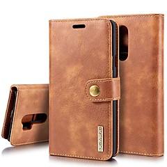 Недорогие Чехлы и кейсы для LG-Кейс для Назначение LG V30 / V20 Бумажник для карт / Защита от удара / со стендом Чехол Однотонный Твердый Настоящая кожа для LG V30 / LG V20 / LG G7