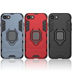 Недорогие Кейсы для iPhone-Кейс для Назначение Apple iPhone 7 Защита от удара / Кольца-держатели Кейс на заднюю панель Однотонный / броня Твердый ПК для iPhone 7