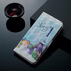 Недорогие Кейсы для iPhone 6-Кейс для Назначение Apple iPhone XS / iPhone XS Max Бумажник для карт / со стендом / Флип Чехол Эйфелева башня Твердый Кожа PU для iPhone XS / iPhone XR / iPhone XS Max