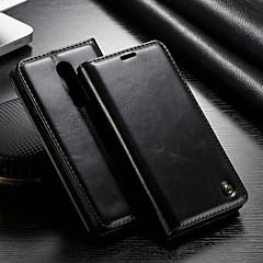 お買い得  その他のケース-CaseMe ケース 用途 OnePlus 3 ウォレット / カードホルダー / スタンド付き フルボディーケース ソリッド ハード PUレザー のために One Plus 3
