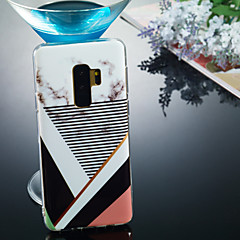 abordables Galaxy S6 Carcasas / Fundas-Funda Para Samsung Galaxy S9 Plus / S9 IMD / Diseños Funda Trasera Mármol Suave TPU para S9 / S9 Plus / S8 Plus