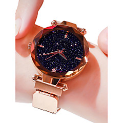 preiswerte Damenuhren-Damen damas Armbanduhr Quartz 30 m Wasserdicht Imitation Diamant Legierung Band Analog Freizeit Modisch Schwarz / Blau / Lila - Purpur Blau Rotgold