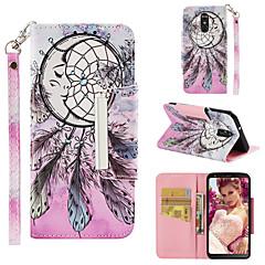 Недорогие Чехлы и кейсы для LG-Кейс для Назначение LG LG Stylo 4 Кошелек / Бумажник для карт / Флип Чехол Ловец снов Твердый Кожа PU для LG Stylo 4