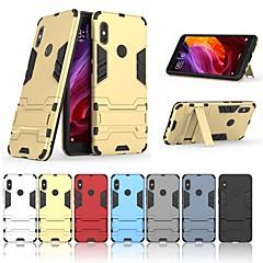 Недорогие Чехлы и кейсы для Xiaomi-Кейс для Назначение Xiaomi Redmi Note 5 Pro Защита от удара / со стендом Кейс на заднюю панель Однотонный / броня Твердый ПК для Xiaomi Redmi Note 5 Pro