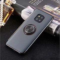 Недорогие Чехлы и кейсы для Huawei Mate-Кейс для Назначение Huawei P20 Pro / P20 lite Кольца-держатели / Ультратонкий / Прозрачный Кейс на заднюю панель Однотонный Мягкий ТПУ для Huawei P20 / Huawei P20 Pro / Huawei P20 lite