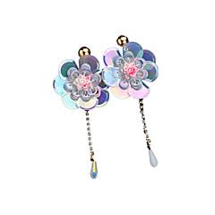 preiswerte Ohrringe-Damen Retro Tropfen-Ohrringe - Blume Luxus, Retro, Modisch Rosa / Leicht Grün / Dunkelgrün Für Zeremonie Party