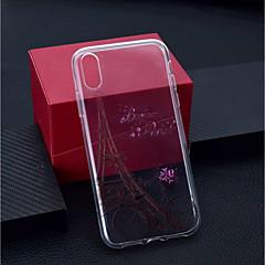 Недорогие Кейсы для iPhone X-Кейс для Назначение Apple iPhone XR / iPhone XS Max Прозрачный / С узором Кейс на заднюю панель Эйфелева башня Мягкий ТПУ для iPhone XS / iPhone XR / iPhone XS Max
