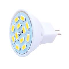 お買い得  LED 電球-SENCART 6本 6W 450lm G4 / MR11 LEDスポットライト MR11 12 LEDビーズ SMD 5730 装飾用 温白色 / クールホワイト 12-24V