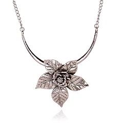 preiswerte Halsketten-Damen Klassisch Anhängerketten - Blume Stilvoll, Klassisch Gold, Silber 40+7 cm Modische Halsketten Schmuck 1pc Für Alltag