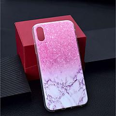 levne Pouzdra iPhone 7 Plus-Carcasă Pro Apple iPhone XR / iPhone XS Max Průhledné / Vzor Zadní kryt Mramor Měkké TPU pro iPhone XS / iPhone XR / iPhone XS Max