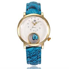 preiswerte Damenuhren-Damen Kleideruhr Armbanduhr Quartz Armbanduhren für den Alltag PU Band Analog Modisch Elegant Schwarz / Weiß / Blau - Rot Blau Marine / Weiß