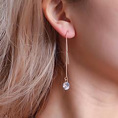 preiswerte Ohrringe-Damen Kubikzirkonia Klassisch Tropfen-Ohrringe - Einfach, Klassisch, Koreanisch Gold / Silber Für Ausgehen Arbeit