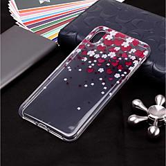 Недорогие Кейсы для iPhone X-Кейс для Назначение Apple iPhone XR / iPhone XS Max Прозрачный / С узором Кейс на заднюю панель С сердцем Мягкий ТПУ для iPhone XS / iPhone XR / iPhone XS Max