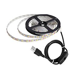 preiswerte LED Lichtstreifen-ZDM® 1m Flexible LED-Leuchtstreifen 60 LEDs 5050 SMD Warmes Weiß / Kühles Weiß / Rot USB / Neues Design / Für Fahrzeuge geeignet 5 V / USB angetrieben 1pc