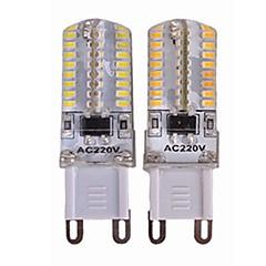 お買い得  LED 電球-SENCART 4本 3.5 W 450 lm G9 LED2本ピン電球 T 64 LEDビーズ SMD 3014 新デザイン / 装飾用 温白色 / ホワイト 110-240 V