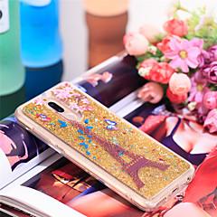Недорогие Чехлы и кейсы для Huawei Mate-Кейс для Назначение Huawei Mate 10 lite Защита от удара / Сияние и блеск Кейс на заднюю панель Эйфелева башня / Сияние и блеск Мягкий ТПУ для Mate 10 lite