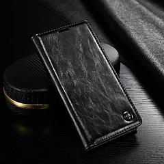 Недорогие Чехлы и кейсы для Sony-CaseMe Кейс для Назначение Sony Xperia Z4 Кошелек / Бумажник для карт / со стендом Чехол Однотонный Твердый Кожа PU для Sony Xperia Z4