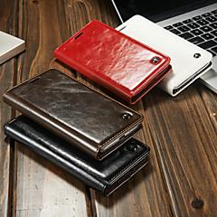 Недорогие Чехлы и кейсы для LG-CaseMe Кейс для Назначение LG G6 Кошелек / Бумажник для карт / со стендом Чехол Однотонный Твердый Кожа PU для LG G6 / LG G5 / LG G4