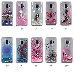 halpa Uudet tuotteet-Etui Käyttötarkoitus Samsung Galaxy S9 Plus / S8 Plus Virtaava neste / Läpinäkyvä / Kuvio Takakuori Koira / Mandala / Perhonen Kova TPU varten S9 / S9 Plus / S8 Plus