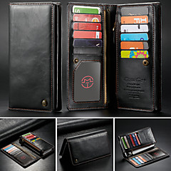 cheap Cases / Covers for Huawei-CaseMe Case For BlackBerry / Apple / Samsung Galaxy Universal Wallet / Card Holder Full Body Cases Solid Colored Hard PU Leather for iPhone XS Max / S9 Plus / Note 9