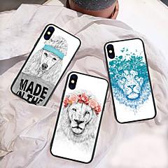 Недорогие Кейсы для iPhone 7 Plus-Кейс для Назначение Apple iPhone XR / iPhone XS Max С узором Кейс на заднюю панель Животное / Мультипликация / Лев Твердый Акрил для iPhone XS / iPhone XR / iPhone XS Max