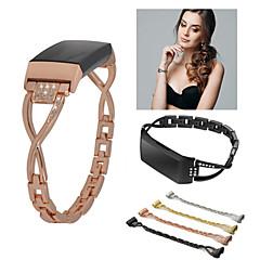 رخيصةأون وصلنا حديثًا-حزام إلى Fitbit Charge 3 فيتبيت عصابة الرياضة / تصميم المجوهرات ستانلس ستيل شريط المعصم